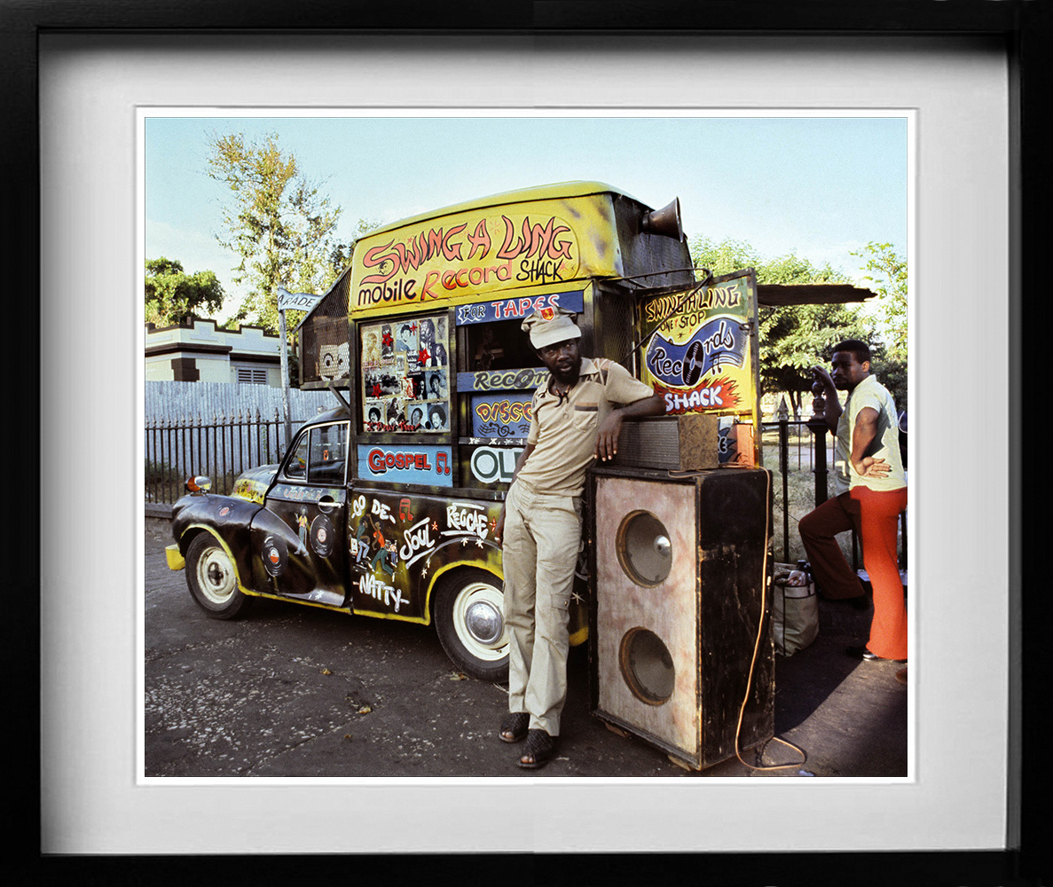 Swing-a-Ling mobile record shop. A gallery of some of the years most popular prints