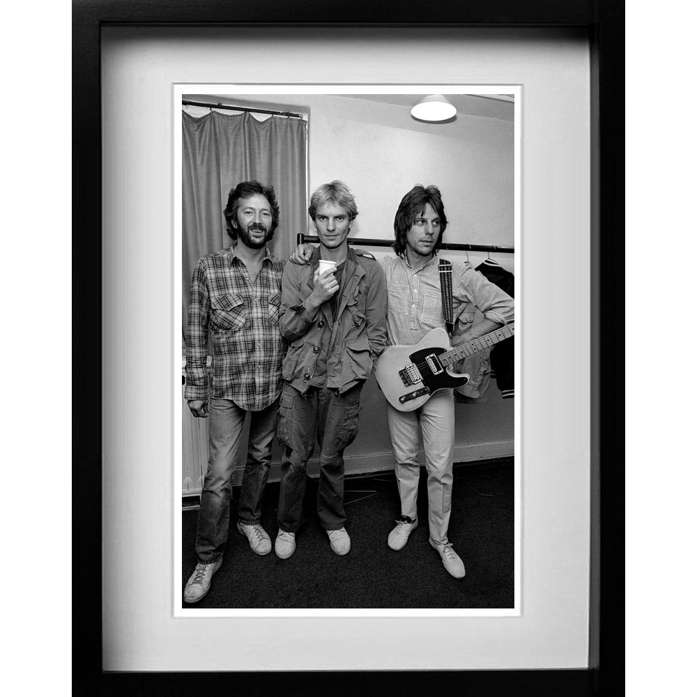 Prints  Eric Clapton - Sting and Jeff Beck